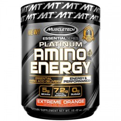 Platinum Amino+Energy Muscletech 30 SERV orange